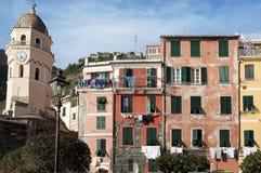 Vernazza domy obrazy royalty free