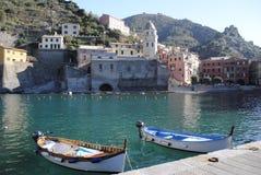 Vernazza Dorf stockbild