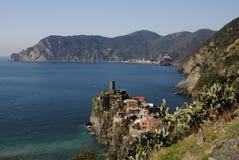 Vernazza Dorf Cinque Terre lizenzfreies stockbild