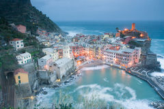 Vernazza at Dusk Royalty Free Stock Image
