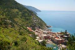 Vernazza en Italie Images libres de droits