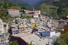 Vernazza fisherman village in Cinque Terre, Italy Royalty Free Stock Photo