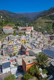 Vernazza fisherman village in Cinque Terre, Italy Stock Photography
