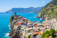 Vernazza fisherman village in Cinque Terre, Italy Stock Images