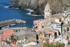 Vernazza fishermen village Stock Photos