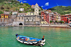 Vernazza - fishing village Stock Images