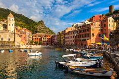 Vernazza Harbor Stock Photo