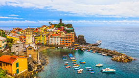 Vernazza Harbor Royalty Free Stock Images
