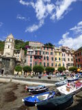Vernazza harbour. Vernazza is a town and comune located in the province of La Spezia, Liguria, northwestern Italy. It is one of the five towns that make up the Royalty Free Stock Image