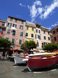 Vernazza harbour. Vernazza is a town and comune located in the province of La Spezia, Liguria, northwestern Italy. It is one of the five towns that make up the Royalty Free Stock Photography