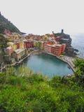 Vernazza i Cinque Terre, Italien arkivbilder