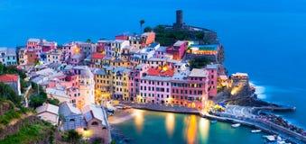 Vernazza Italië Stock Foto's