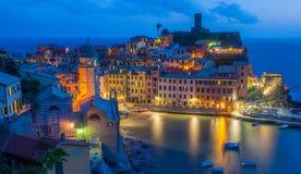 Vernazza Italia Foto de archivo libre de regalías