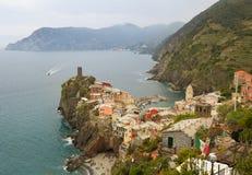 Vernazza, Italie Images libres de droits