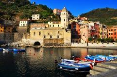 Vernazza Italien, Europa arkivfoto