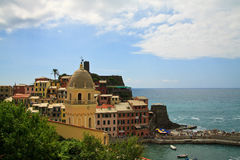 Vernazza, Italy. Seaside town of vernazza in cinque terre Italy Royalty Free Stock Photos