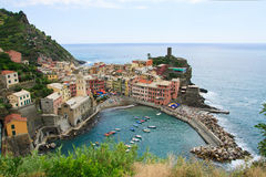 Vernazza, Italy. Seaside town of vernazza in cinque terre Italy Royalty Free Stock Photography
