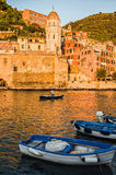 Vernazza Italy. Vernazza fishing village in the Cinque Terre, Liguria Italy Stock Photography