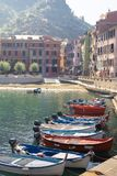 Vernazza, Italy, La Specia Province, Liguria Regione, 08 august, 2018: View on the colorful houses along the coastline of Cinque royalty free stock photos