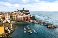 Vernazza, Cinque Terre, Italy stock photos
