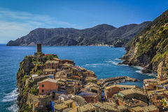 Vernazza, Italy. One of the five towns of  the Cinque Terre Stock Photo
