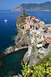 Vernazza, kleine vissersstad in Cinque Terre Royalty-vrije Stock Foto's