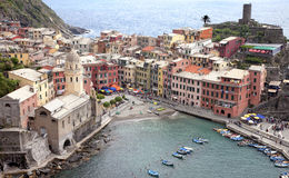 Vernazza landscape in Cinque Terre Royalty Free Stock Photos