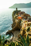 Vernazza, Ligurië, Cingue Terre Stock Foto's
