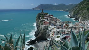 Vernazza and Monterosso Cinque Terre Italy stock video footage