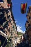 Vernazza and ocean coast in Cinque Terre, Italy royalty free stock photos