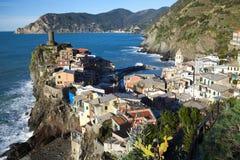 Vernazza Outcropping,the Cinque Terra Italy stock photo