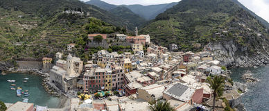 Vernazza panoramic view Royalty Free Stock Images