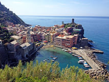 Vernazza. Picture of harbour in Vernazza, Cinque Terre, Italy Stock Photo