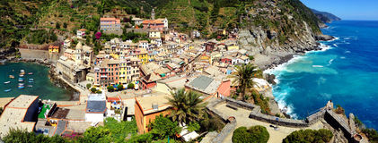 Vernazza. Picture of Vernazza, one of the Cinque Terre villages in La Spezia, Liguria, Italy Stock Photography