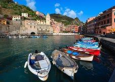 Vernazza quay, Cinque Terre royalty free stock image