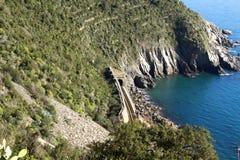 Vernazza Railway, Cinque Terre Stock Images