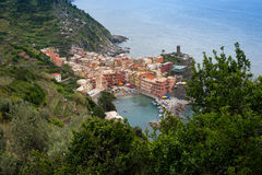 Vernazza in spring time Stock Photography