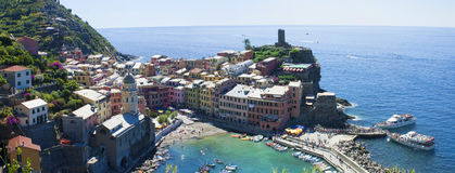 Vernazza summer landscape Royalty Free Stock Images