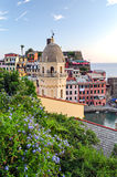 Vernazza at sunset (Cinque Terre, Italy) Royalty Free Stock Photo