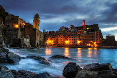 Vernazza at Sunset Stock Photo