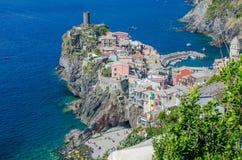 vernazza terre Италии cinque стоковые изображения rf