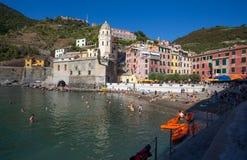 Vernazza, 5 Terre, провинция Spezia Ла, Ligurian побережье, Италия стоковое фото