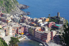 Vernazza from the top Stock Images