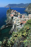 Vernazza town. Cinque Terre. View of Vernaza town, Cinque Terre Italy Royalty Free Stock Photography