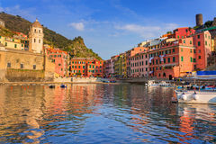 Vernazza town on the coast of Ligurian Sea. Italy Royalty Free Stock Photography
