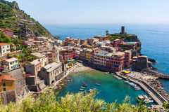 Vernazza town view in Cinque Terre Stock Photography