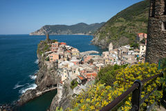 Vernazza, traditional Italian coastal town. Stock Images