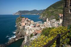 Vernazza, traditional Italian coastal town. Stock Images