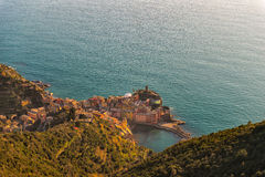 Vernazza. View from above. Cinque terre in Liguria Stock Images