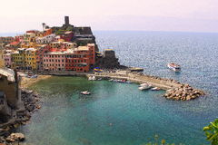 Vernazza. The view at Vernazza, Cinque terre, Italy royalty free stock photos